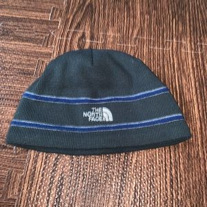 North face adult knit beanie hat cap black blue